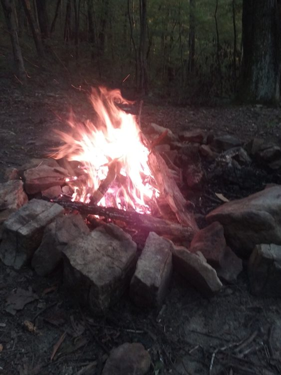 The real home of a hiker is right here, around the fire.