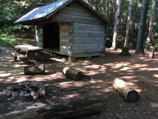 This is more of a fringe hiker's home: a shelter on the Appalachian Trail.